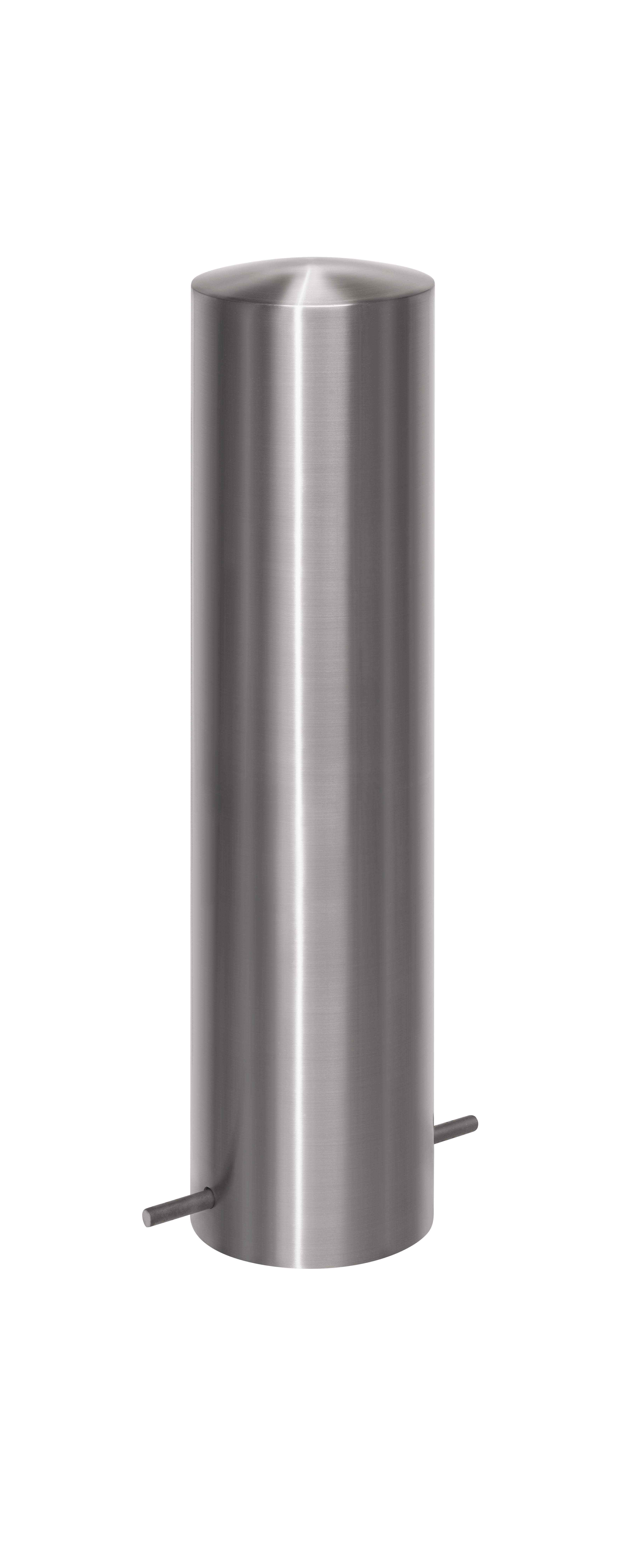 Absperrpfosten Ø 205 mm aus Edelstahl
