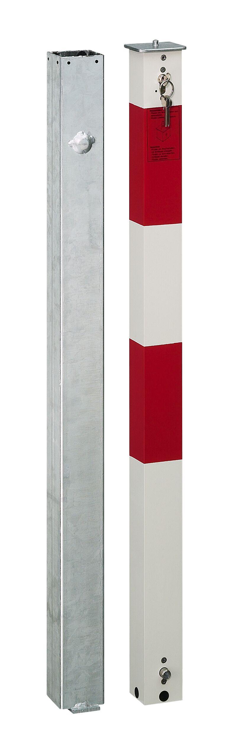 Absperrpfosten 70 x 70 mm aus Aluminium