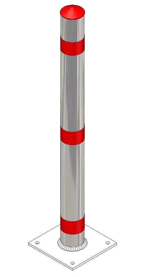 Stilsperrpfosten Ø 76 mm aus Aluminium