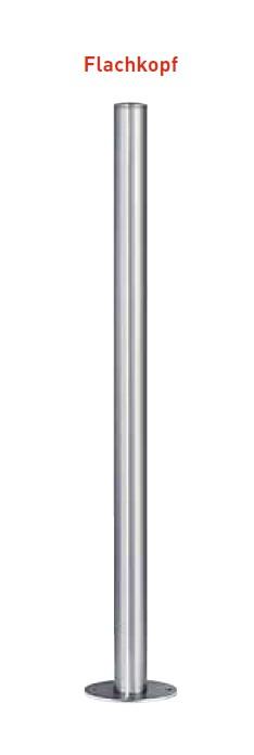 Absperrpfosten aus V4A | Ø 76 x 900 mm