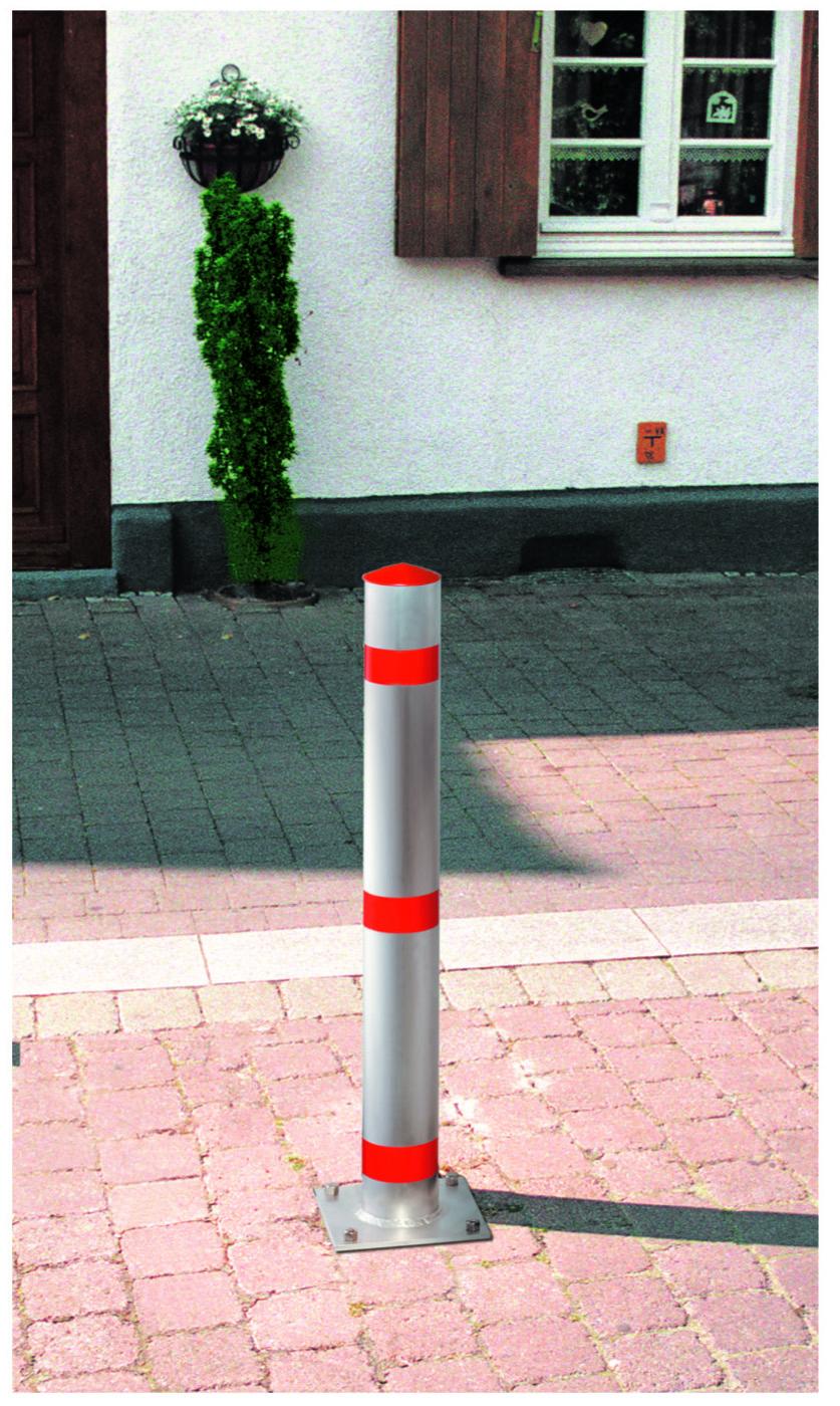 Aluminium-Absperrpfosten | Ø 102 mm x 900 mm