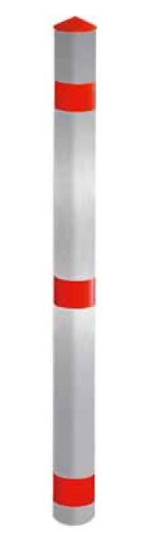 Aluminium Absperrpfosten | Ø 76 mm x 900 mm