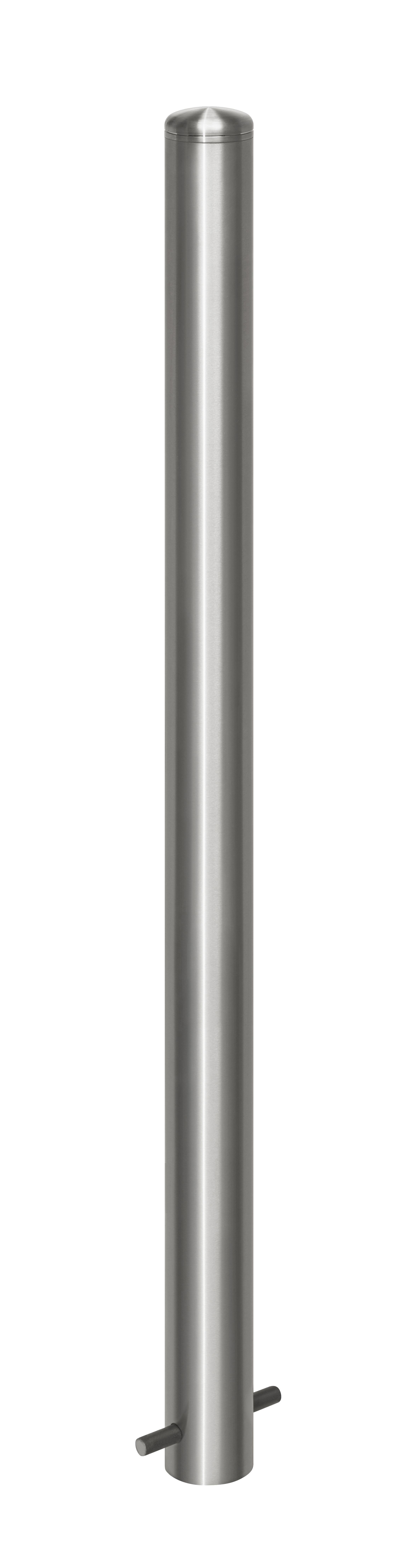 Absperrpfosten aus Edelstahl Ø 76 mm
