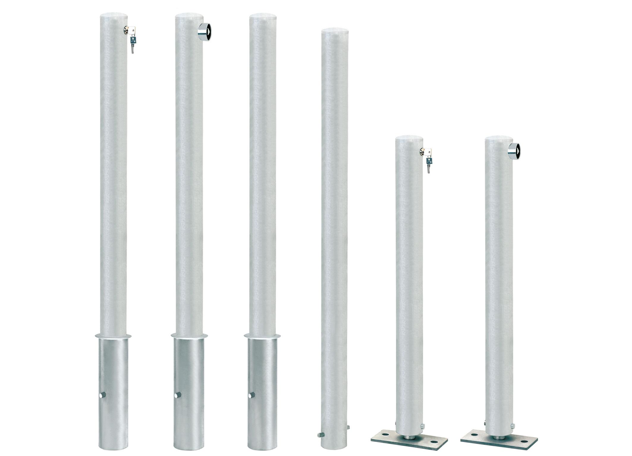 Cityring-Stahlpoller | Ø 76 mm x 900 mm | Umlegbar