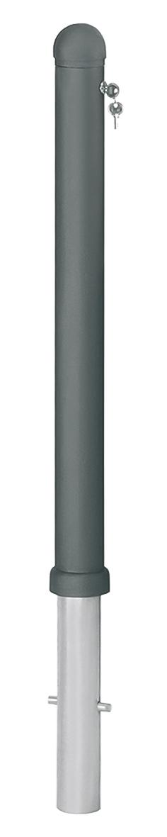 Harmonie-Pfosten Aluguss   Ø 80 mm x 900 mm, heraushebbar, zum Einbetonieren mit Bodenhülse