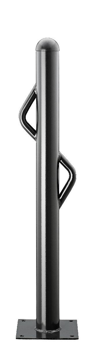 Design-Stilsperrpfosten Ø 76 mm aus Stahl