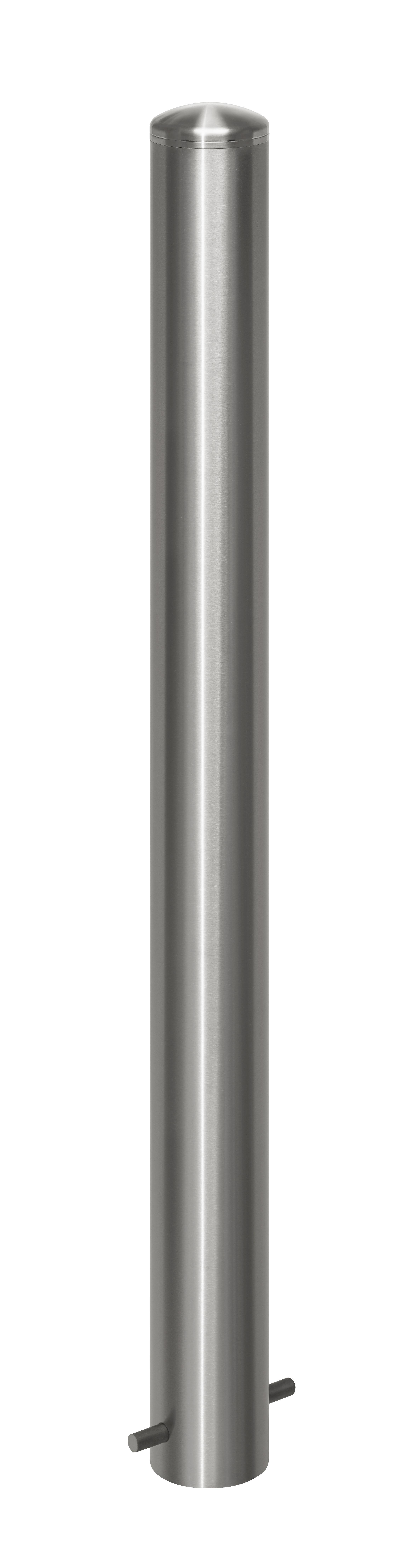 Absperrpfosten aus Edelstahl ¢ 102 mm