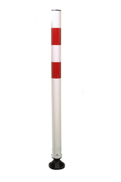 Kickback Poller Ø 60 x 900 mm | Flexibler Kunststoffpfosten mit schwarzer Abdeckkappe