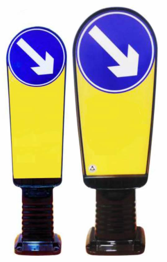Verkehrsinselbake | B: 220 oder 320 mm | H: 900 oder 1.000 mm