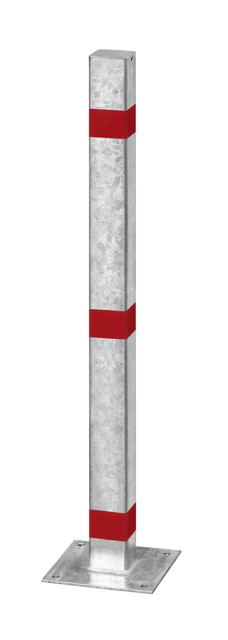 Absperrpfosten 70 x 70 mm aus Stahl