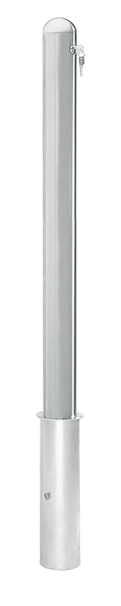 Edelstahlpoller |  Ø 76 mm x 900 mm | mit Halbkugel