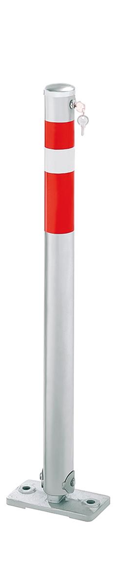 Umlegbarer Stahl-Sperrpfosten   Ø 64 mm x 900 mm   zum Aufdübeln