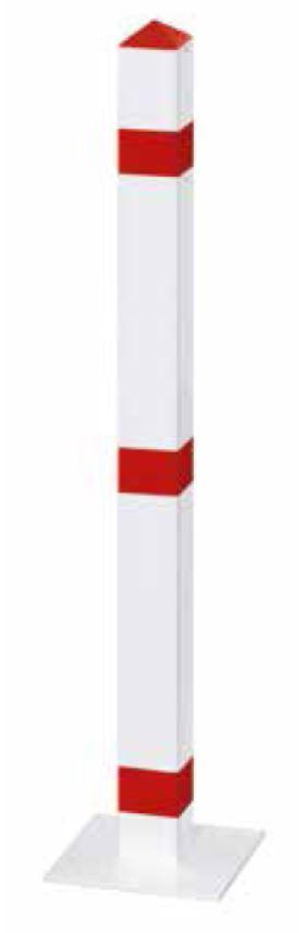 Stahl-Absperrpfosten | 70 x 70 mm x 900 mm