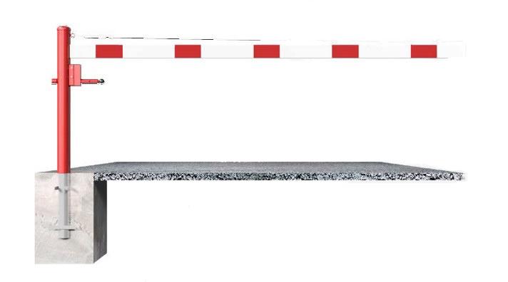 Drehschranke | 1,5 bis 3,5 m x 950 mm mit Seilzugverstärkung