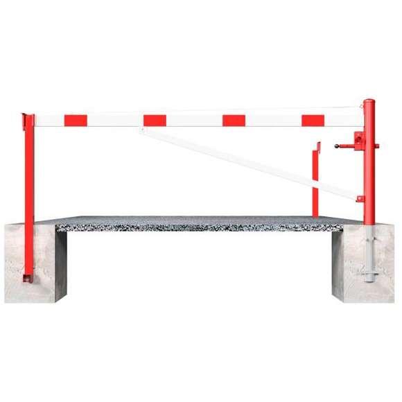 Drehschranke mit Diagonalverstrebung  | 3 m bis 6 m x 950 mm