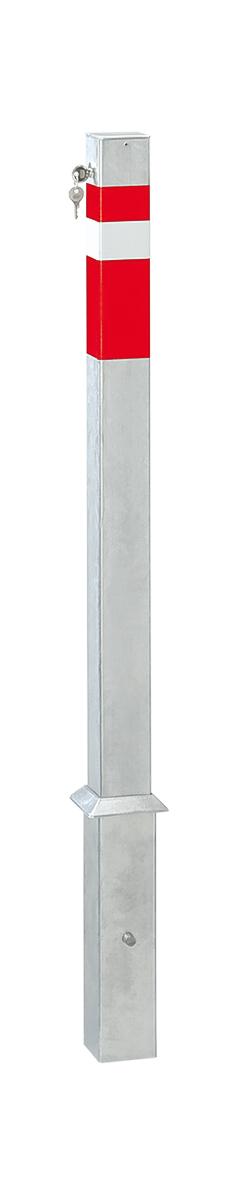 heraushebbarer Vierkantpfosten   70 x 70 mm x 900 mm